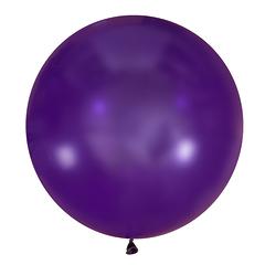 №13 Пурпурный большой шар без рисунка (шёлк). Гелиевый, с обработкой 91 см.