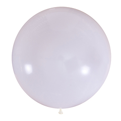 №05 Белый большой шар без рисунка (шёлк). Гелиевый, с обработкой 91 см.