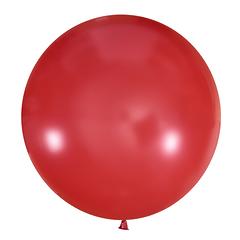 №10 Красный большой шар без рисунка (шёлк). Гелиевый, с обработкой 91 см.