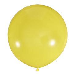 №06 Жёлтый большой шар без рисунка (шёлк). Гелиевый, с обработкой 91 см.