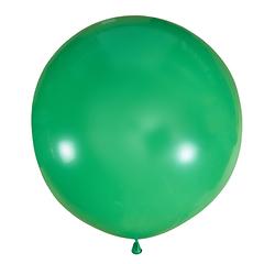 №15 Зелёный большой шар без рисунка (шёлк). Гелиевый, с обработкой 91 см.