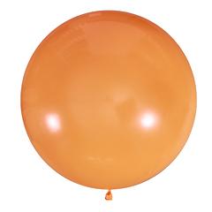№07 Оранжевый большой шар без рисунка (шёлк). Гелиевый, с обработкой 91 см.