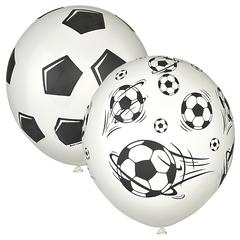 №064  Футбольный мяч. 5-сторонний рисунок (шёлк). С гелием. 30 см.