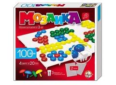 Пластмассовая мозаика для детей, 100 элементов, 2 поля