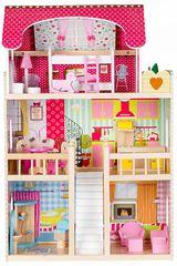 Деревянный кукольный домик Rezydencja Malinowa