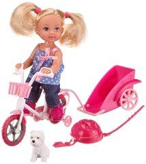 Кукла Эви на велосипеде с собачкой, 12 см Evi love Bike Tour