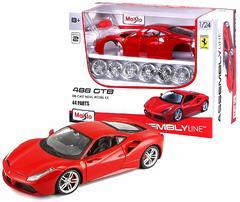 Сборная модель автомобиля Маисто Ferrari Феррари 488 GTB красный