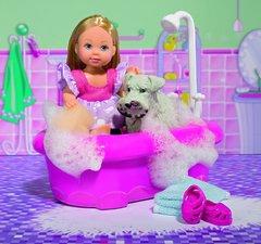 Куколка Эви с собачкой в ванной комнате, 12 см Evi Love Dog Bath Toy