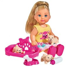 Кукла Эви с собачками, 12 см EVI LOVE PUPPY LOVE