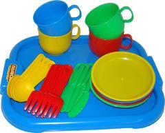 """Набор детской посуды """"Минутка"""" с подносом на 4 персоны"""