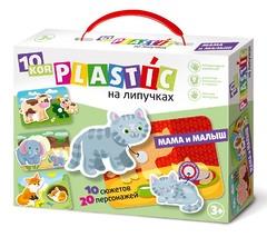 Пластик на липучках «Мама и малыш»