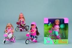Кукла Симба 5731715 Эви на велосипеде