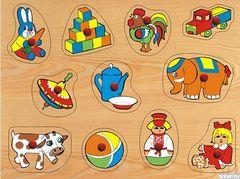 Развивающая деревянная игра ИГРУШКИ БОЛЬШИЕ 1 D106