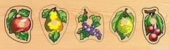 Развивающая деревянная игра ЮЖНЫЕ ФРУКТЫ МАЛЫЕ D133