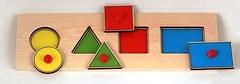 Развивающая деревянная игра ГЕОМЕТРИЧЕСКИЕ ФИГУРЫ D189