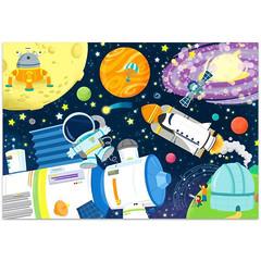 Космос. Пазл Трефл с окошками Flip-Flap 36 элементов