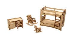 НАБОР МЕБЕЛИ «ДЕТСКАЯ» Деревянный конструктор