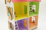 Кукольный домик из картона. Четыре комнаты (белый)