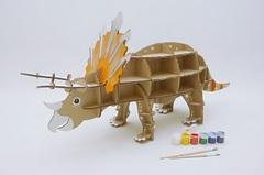 Игрушка из картона Домашний динозавр Трицератопс
