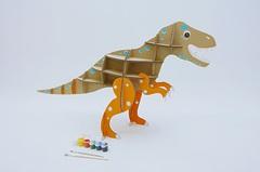 Игрушка из картона Домашний динозавр Тираннозавр
