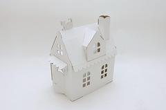 Игрушка из картона Домик Алисы (белый)
