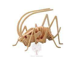 Сборная деревянная модель СВЕРЧОК (МАЛЫЙ) E015 26 деталей