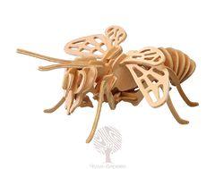 Сборная деревянная модель Пчела E018 30 деталей