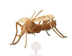 Сборная деревянная модель МОСКИТ МАЛЫЙ E020 20 деталей