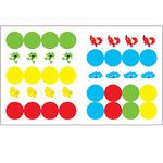 Цвет (Умный зайка), книжка с заданиями и наклейками