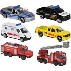 Автомобили SOS 212057181 в ассортименте 6 видов 7,5 см