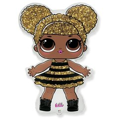 №038 Фигура с гелием. Кукла LOL  Королева. 87 см*62 см.