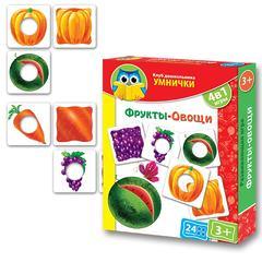 Развивающая игра Умнички «Фрукты, овощи»