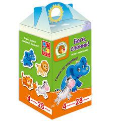 Игра на коробке на липучках «Беги, слоник!»