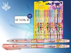 Набор ручек гелевых с блестками, 12 цветов (TZ 5216-12)