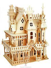 Сборная деревянная модель КОРОЛЕВСКАЯ ВИЛЛА G-DH004 183 детали