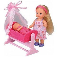 Кукла Эви с кроваткой 12 см Симба 105736242