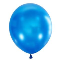 №035  Металлик. Голубой. С гелием. 30 см.