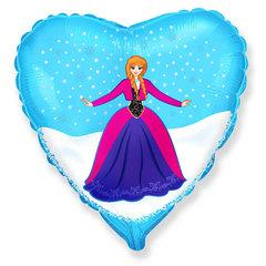 """№069 Фигура с гелием. Фольгированное сердце """"Принцесса Анна"""" 45 см."""
