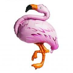 №076 Фигура с гелием. Фламинго. 128 см*80 см.
