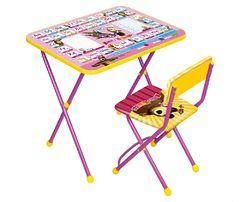 Комплект складной мебели Ника «Маша и медведь» 3-7 лет, стол+стул мягкий