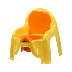 Горшок-стульчик детский, желтый, арт. М1328