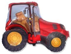 №153 Фигура с гелием. Трактор красный. 65 см*95 см.