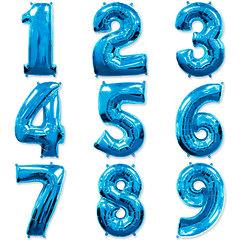 №48 Фольгированные цифры (0 - 9 ), наполненные гелием. Тёмно - синие. 102 см.