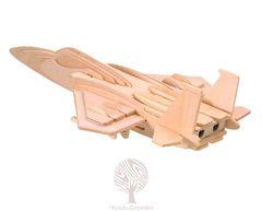 Сборная деревянная модель ИСТРЕБИТЕЛЬ F-15 P044 37 деталей