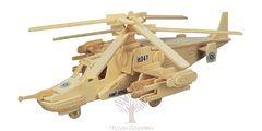 Сборная деревянная модель ЧЕРНАЯ АКУЛА P099 81 деталь