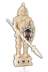 Сборная деревянная модель РЫЦАРЬ С КОПЬЕМ P174 80 деталей