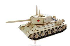 Сборная деревянная модель СРЕДНИЙ ТАНК P175 141 деталь