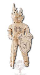Сборная деревянная модель РЫЦАРЬ P178 78 деталей