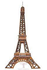 Сборная деревянная модель ЭЙФЕЛЕВА БАШНЯ (ЦВЕТНАЯ) PC030 51 деталь