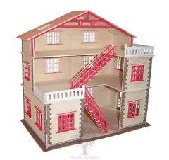 Сборная деревянная модель КУКОЛЬНЫЙ ДОМИК PH023 88 деталей